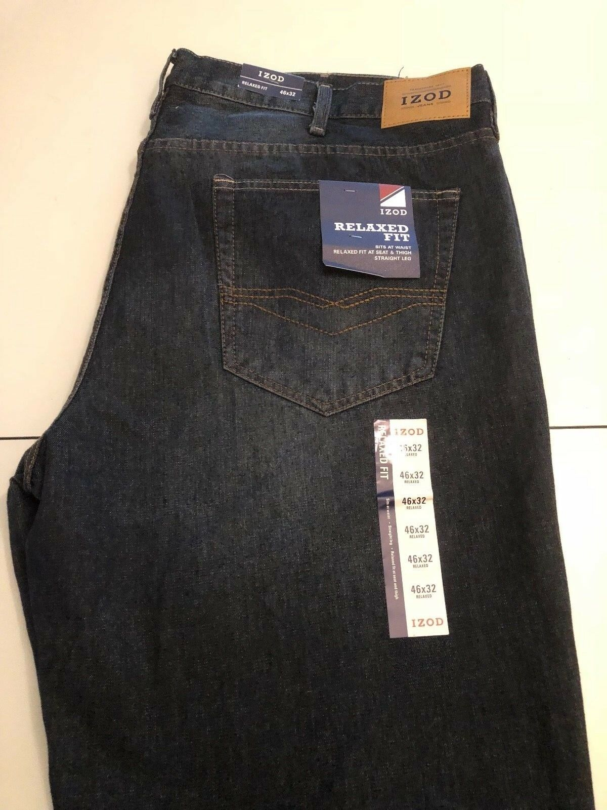 NWT Izod Relaxed Fit Meadow bluee Jean Size 46W x 30L
