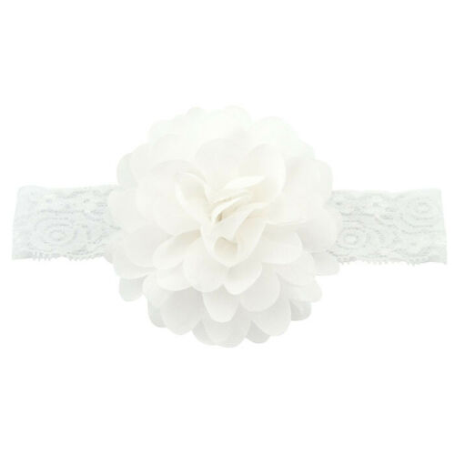 Kids Girl Baby Headband Toddler Lace Big Flower Hair Band Pretty Accessories New