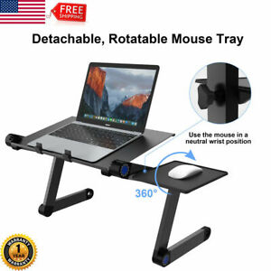 Folding-Laptop-Table-Lap-Desk-Adjustable-Sofa-Bed-Computer-Tray-Stand-360-US