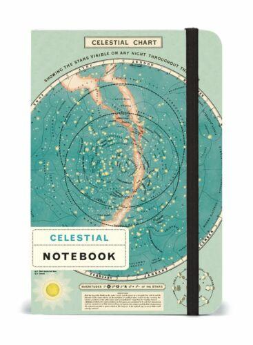 Kleines Liniertes Taschen Notizbuch 4x6ins 256 Seiten Himmlisch Cavallini