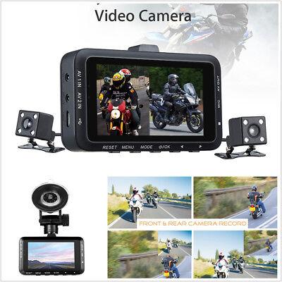 "3.0"" Motorcycle Bikes Dual Cameras HD Action Camera DVR Video Recorder G-sensor"