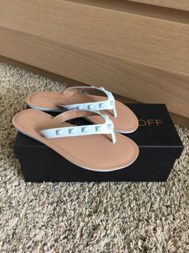 a5341c32a50 Rebecca Minkoff Fiona Studded Leather Flip Flop Sandals Size 6 (run Small)  NWB