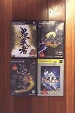 PlayStation2 PS2 Onimusha set 1 2 3 New 4 Japan  Import Games
