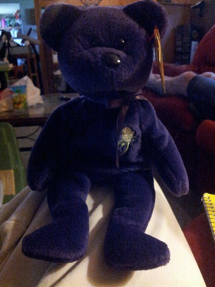 Princess Diana RARE 1st Edition Beanie Baby. ALWAYS IN CASE