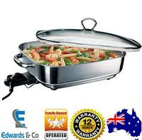 Sunbeam Electric Frypan Stainless Steel Fry Pan Skillet 15 Heat Settings Cooker