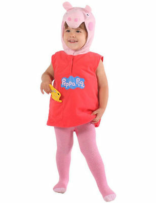 Girls Pink Peppa Pig Fancy Dress Costume 2/4 Years Plush Book Day Week TV
