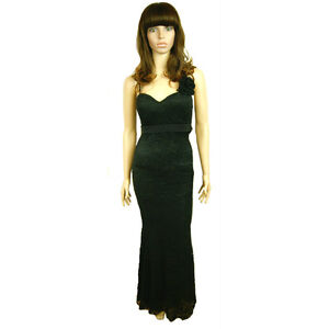 in con con donna borchie sera da borchie metallo nere da lungo Vestito 0xCqzXw