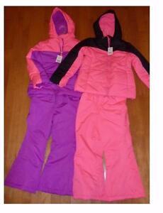 Girls Neon Pink Amp Purple Snowsuit Winter Coat Amp Bibs Pants