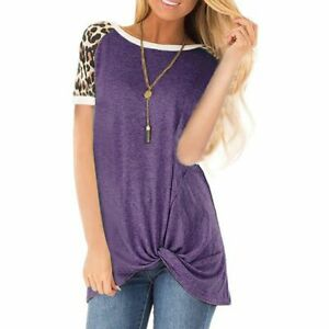 Blouse-Top-Jumper-Pullover-Solid-Casual-Short-Sleeve-New-Elegant-Fashion-T-Shirt