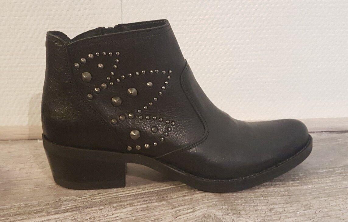 DESTOCKAGE BOTTINES CUIR zapatos KANNA Talla 40   KI7783 SARATOGA NEGRO H138