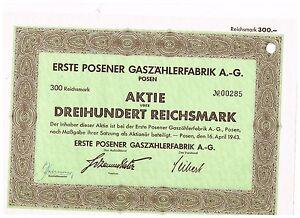 Erste-Posener-Gaszaehlerfabrik-AG-Posen-1943-300-RM