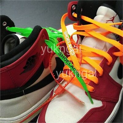Single Layer Flat Laces With Zip Tie for Custom Replacement Off White Sneakers