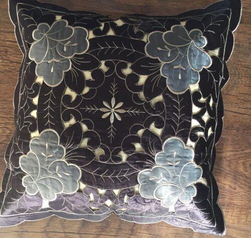 1 petites MARRON//GRIS 40cmx40cm Housse de coussin décoratif