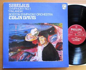 Philips-9500-140-Sibelius-Symphony-1-Finlandia-Colin-Davis-Boston-EXCELLENT-LP