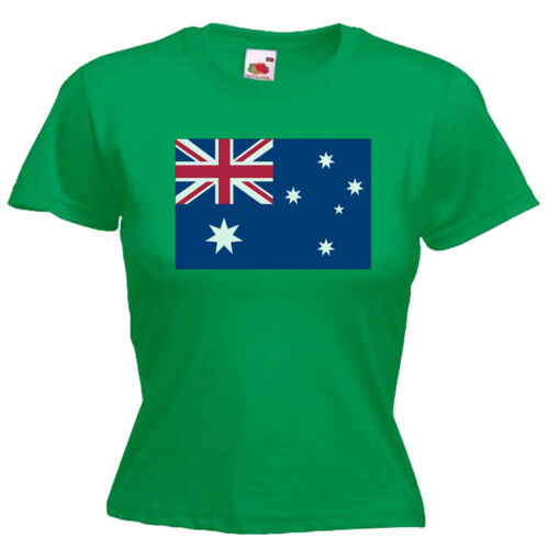 Australia Flag Ladies Lady Fit T Shirt 13 Colours Size 6-16