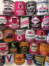 Vintage Motor Oil Cans 1 qt.  10 can Special Offer Mix or Match any 10 listed !