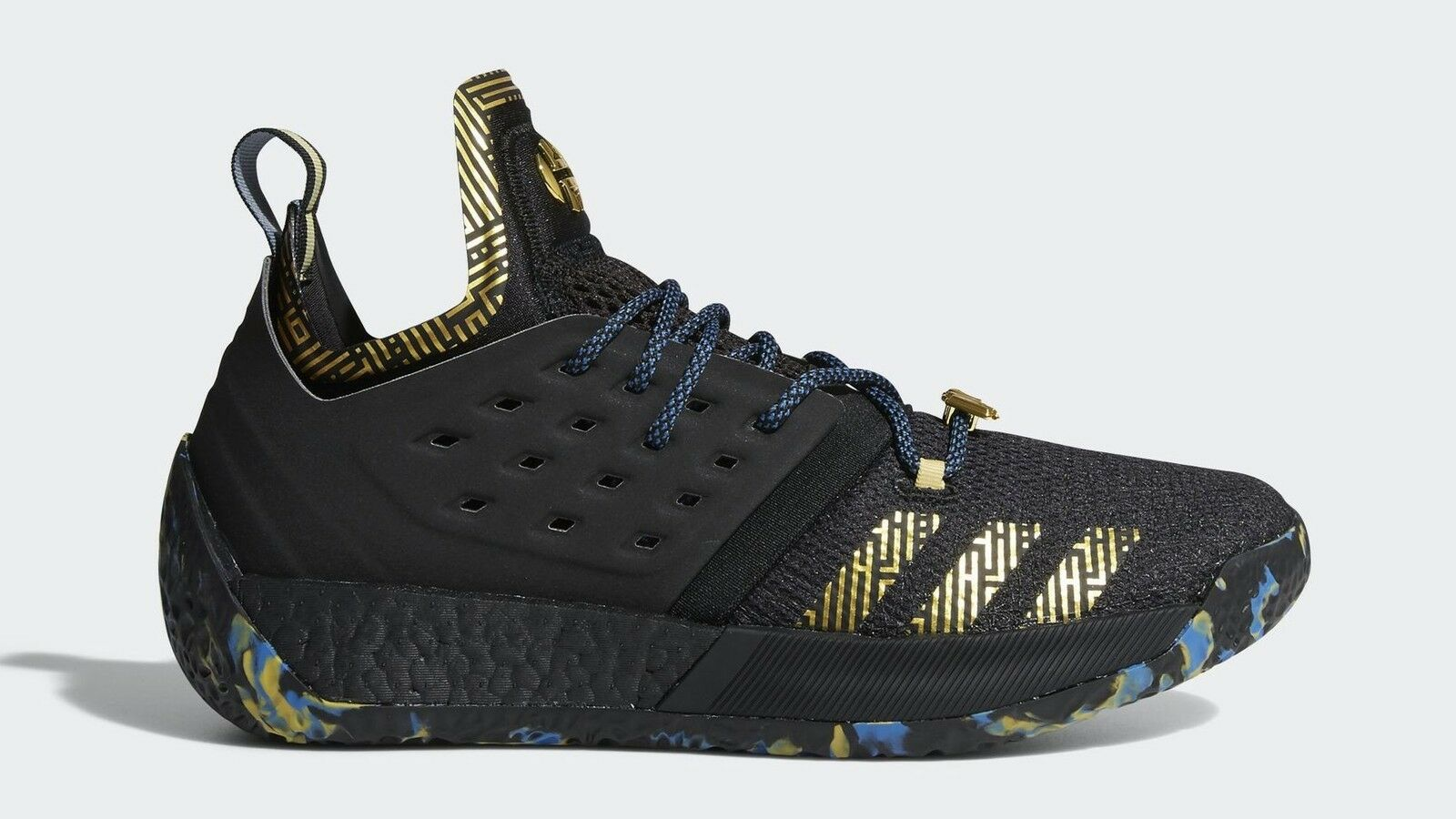 Adidas Basketball James Harden Boost Vol 2 NBA Mvp 2018 Black Gold Men F36848