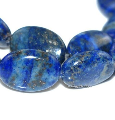 AZURA LAPIS LAZULI GEMSTONE OVAL 15X10MM LOOSE BEADS 8/""