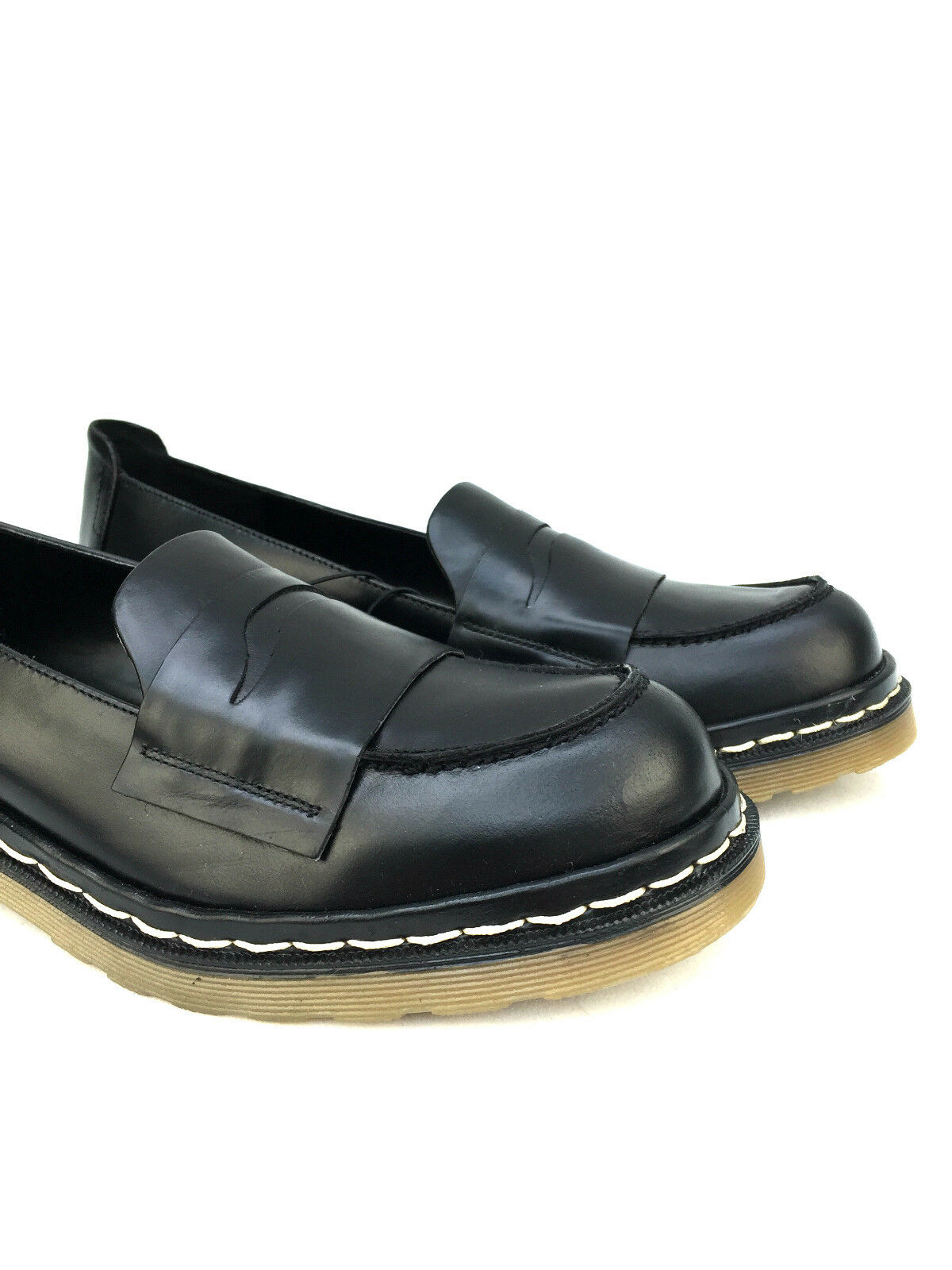 ZARA BLACK LOAFERS LEATHER MOCCASIN Schuhe FLATS LOAFERS BLACK SIZE 37 39 8b1193