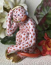 """Monkey Business""  Bittersweet Chimp Herend Fishnet Figurine"