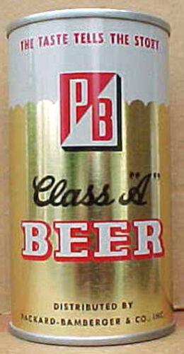 PB CLASS A BEER ss pull tab CAN Grade 1//1+ PENNSYLVANIA Horlacher Allentown