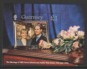 Guernesey-1999-Mariage-Royal-Prince-Edward-amp-Sophie-Feuille-MNH-Sg-MS837