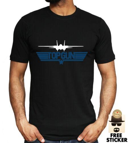 Top Gun Rétro T-shirt Maverick AVION JET Tom Cruise Film Papa Cadeau Toutes Tailles