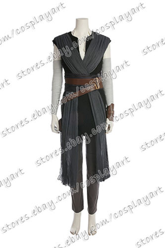 Star Wars Cosplay Rey Costume Uniform Full Set Outfits Halloween Party
