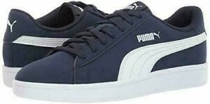 Puma-Smash-V2-Suede-Men-s-Size-9-Athletic-Casual-Sneaker-Shoe-Navy