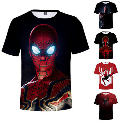 Spider Man Far From Home T-Shirt Polyester Top Short Sleeve Fans 3D Crew Neck