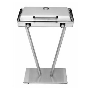 Brookstone Indoor | Outdoor Electric Grill, Stainless Steel