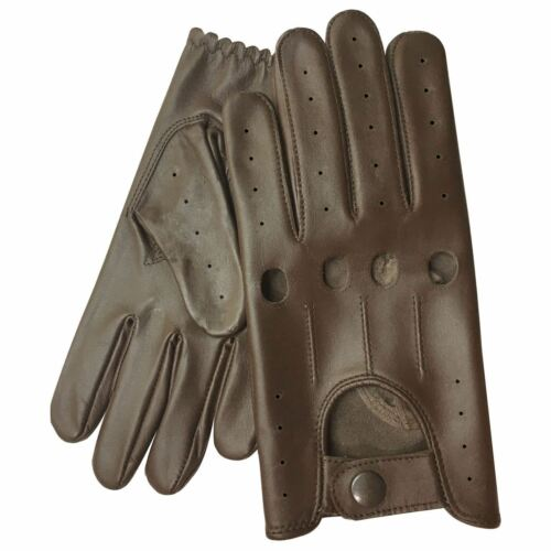New Prime Stylish Genuine Soft Baby Cow Nappa Leather Men/'s Driving Gloves 510