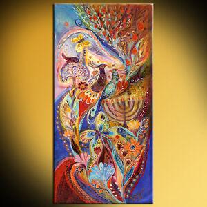 Hanukkah-in-Magic-Garden-Jewish-spiritual-symbolism-expressionist-painting