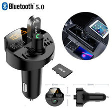 Car Cigar Plug Bluetooth5.0 FM Transmitter MP3 Player Radio Adapter 2USB Charger