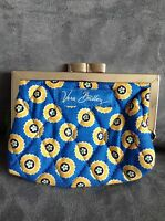 Vera Bradley riveria Blue Kisslock Coin Purse - Limited Edition - Rare -