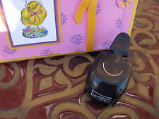 Retired Stampin Up Slit Paper Punch Makes 1/2 Circle Slit for Tabs Whale Tail