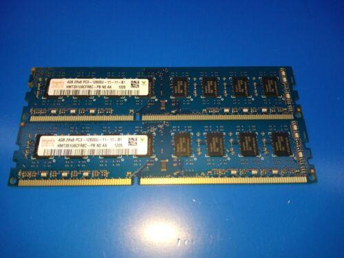 HYNIX DDR3 2RX8 PC3-12800 Desktop Memory RAM HMT351U6CFR8C-PB 8GB 2x4GB