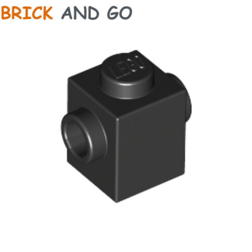 4 x LEGO 47905 Brique 1x1 (noir) Brick 2 Studs On 2 Opposite Sides NEUF NEW