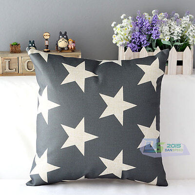 """Simply Style Star Pattern Square Throw Pillow Case Cushion Cover Home Decor 17"""""""