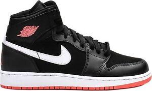 c4ed43f9cbae Nike AIR JORDAN 1 RETRO HIGH GG Blk Hot Lava White 332148-028 Youth ...
