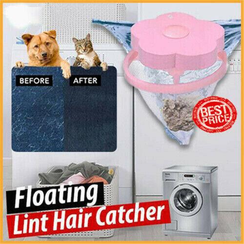 2x Filter Bag Net Plum-shaped Washing Machine Laundry Floating Lint Hair Catcher