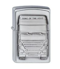 "ZIPPO ""KING OF THE ROAD TRUCK"" 3D EMBLEM CHR. LIGHTER / 1300176 ** NEW IN BOX **"