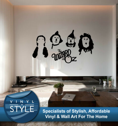 THE WIZARD OF OZ MINIMALIST DECOR DECAL WALL ART GRAPHIC VARIOUS COLOURS