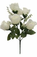 60 Roses Ivory Cream Silk Wedding Bouquet Flowers Centerpieces Rose Buds