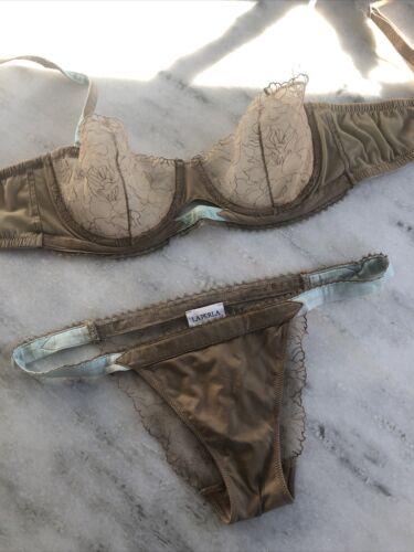 La Perla Satin & Lace Bra Set size 2 Bra 34C