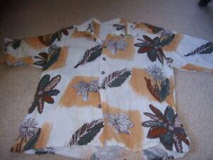 AgréAble 80 S Rétro Vintage Marron Daisy Chemise Floral L Blanc-afficher Le Titre D'origine