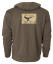 Avery-Logo-Wildfowlers-Pigeon-shooters-Marsh-Brown-Hoodie-Size-3XL thumbnail 1