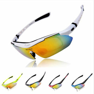 Polarized-Cycling-Glasses-Eyewear-Bike-Sports-Fishing-Sunglasses-UV400-5-Lens