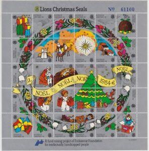 Lions-International-Christmas-Seals-1984-Australia-sheet-of-30-number-61100