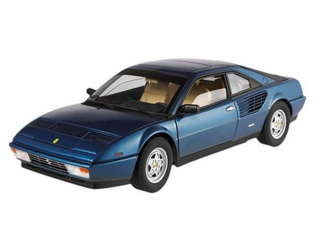 1/18 Hot Wheels Ferrari 3.2 Mondial Elite Edition Diecast Model Car blu P9890